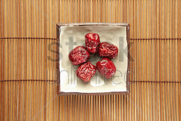 traditional chinese herb jujube stock photo