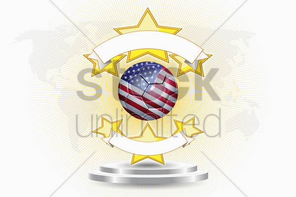 united states of america soccer ball emblem stock photo