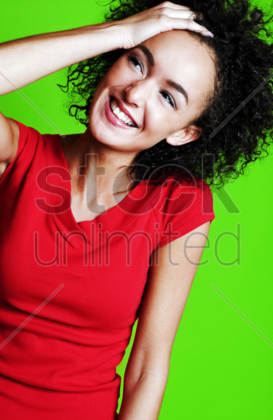 woman having a good time stock photo