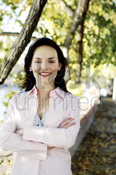 woman posing for the camera stock photo