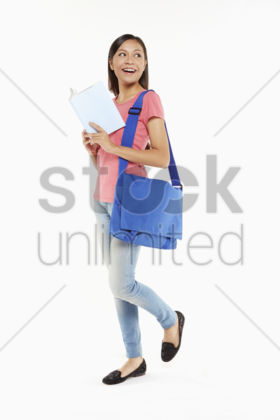 woman reading a book stock photo