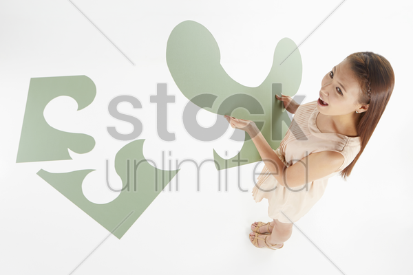 woman with a solution stock photo