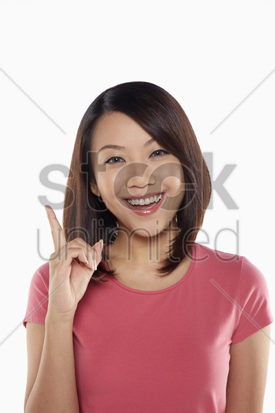 woman with an idea stock photo