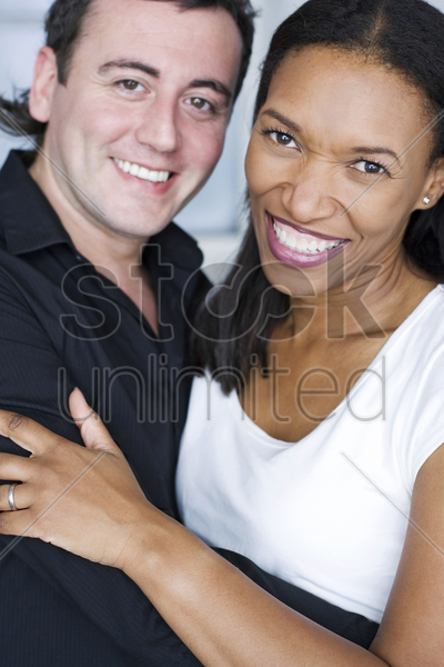 young loving couple stock photo