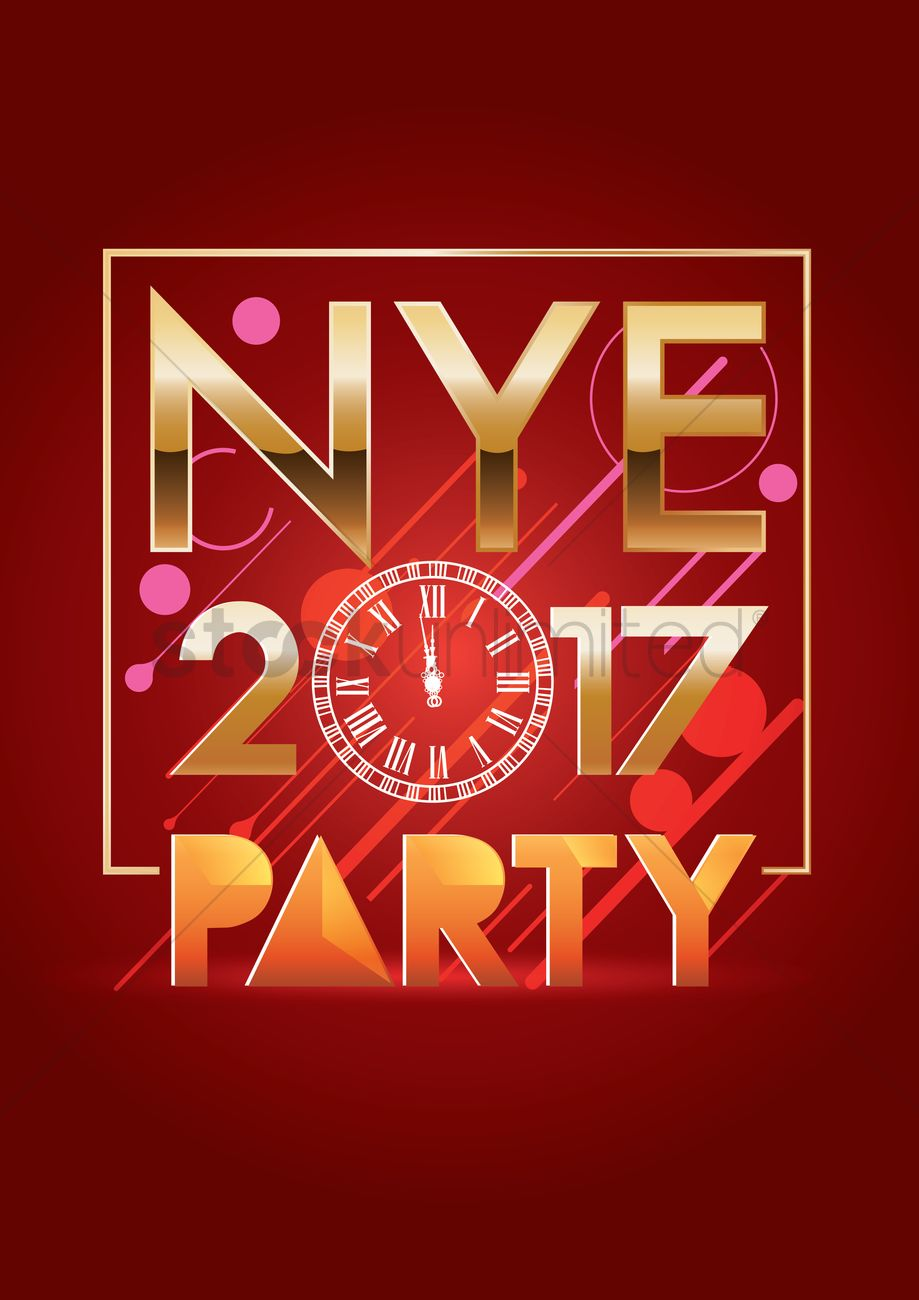 2017 new years eve party Vector Image - 1940103 ...