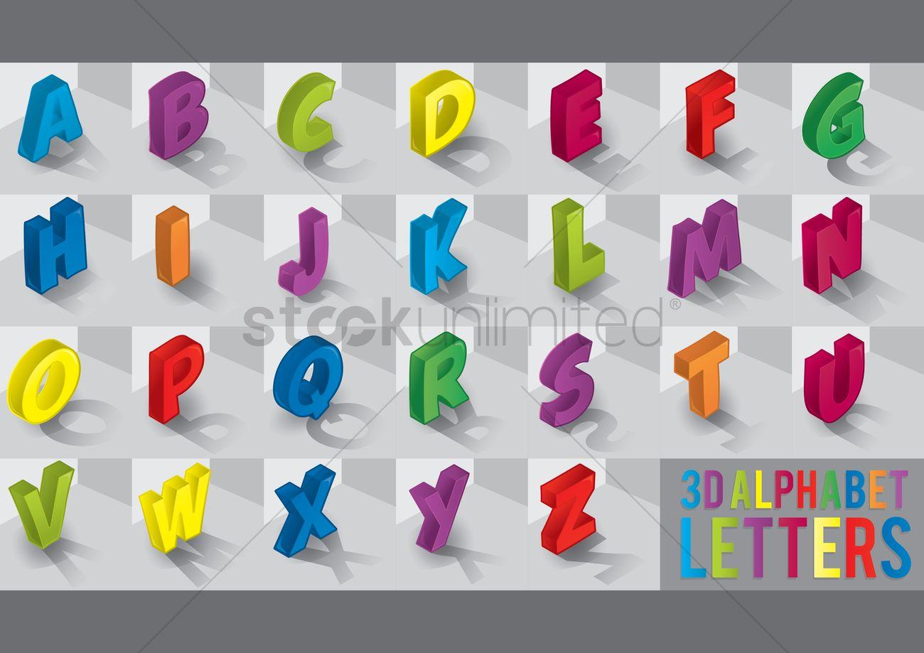 3d alphabet wwwimgkidcom the image kid has it