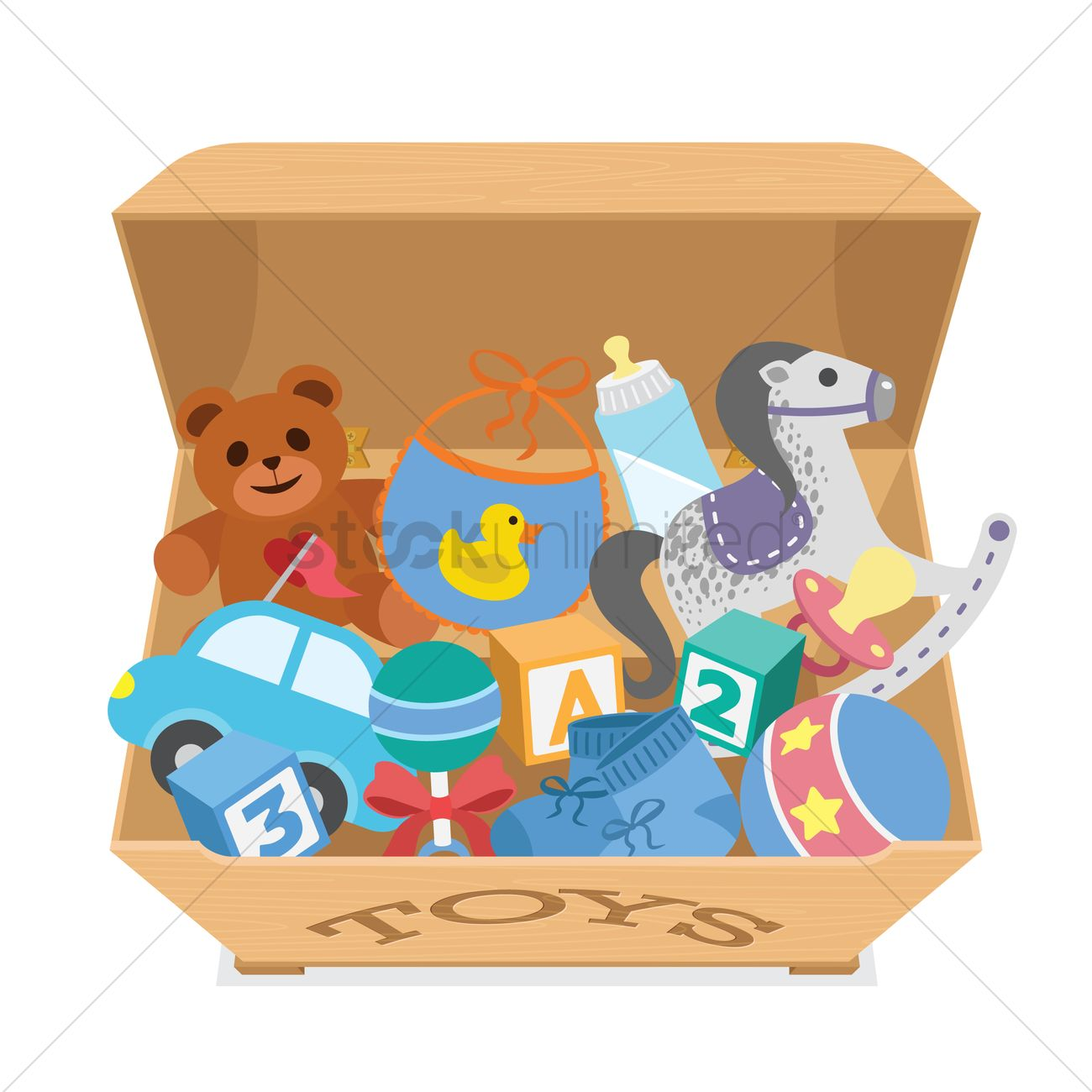 Toy Box Clip Art : A box filled with toys vector image stockunlimited