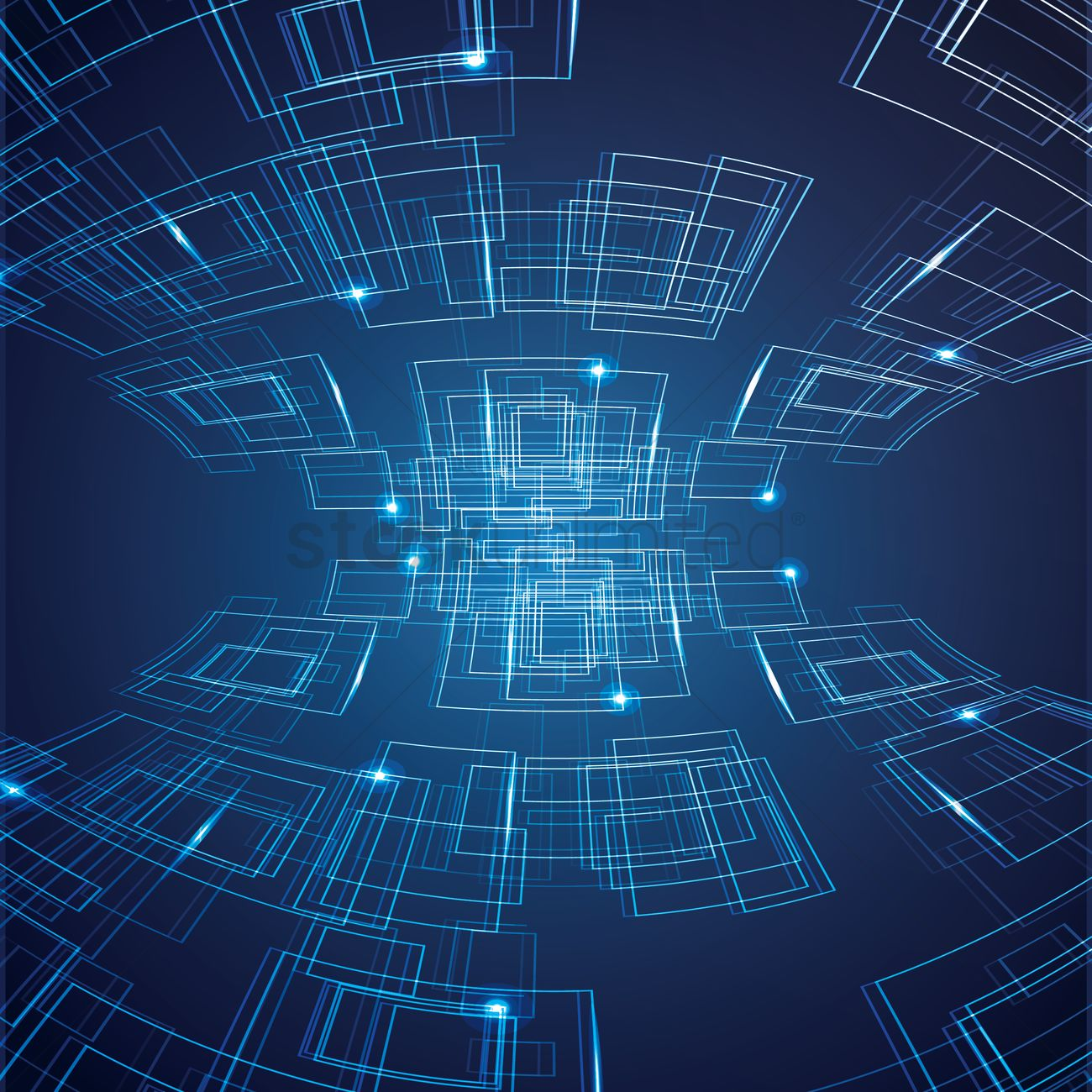Abstract computer blue background Vector Image - 1516251 ...