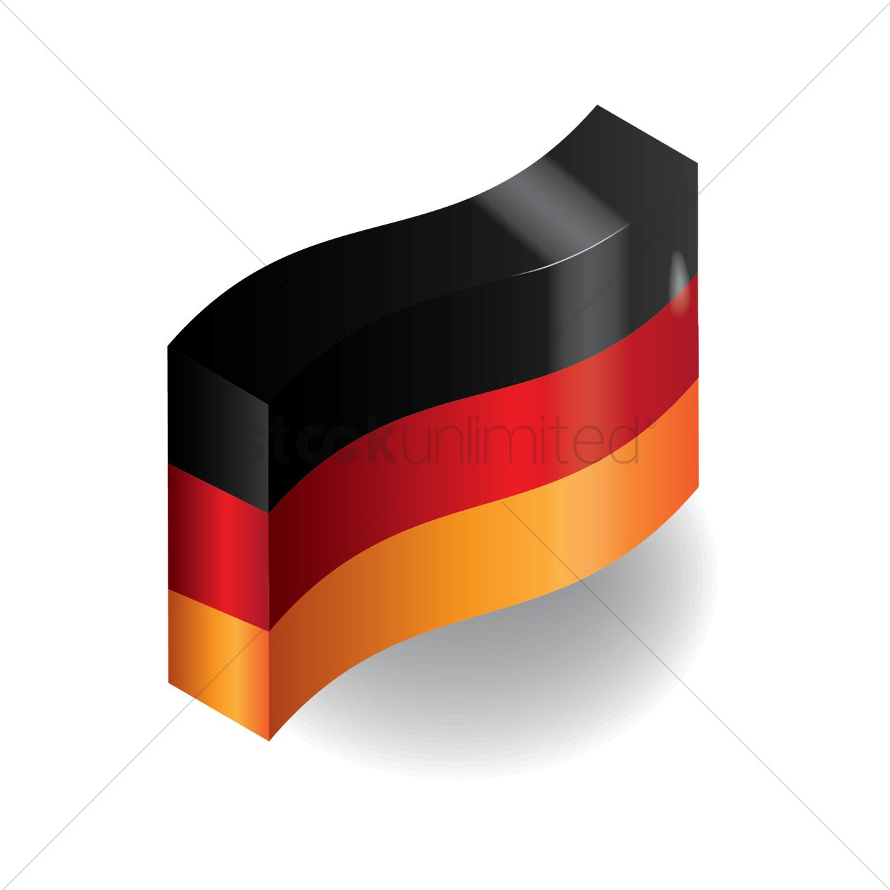 Abstract german flag design Vector Image - 1954279 | StockUnlimited