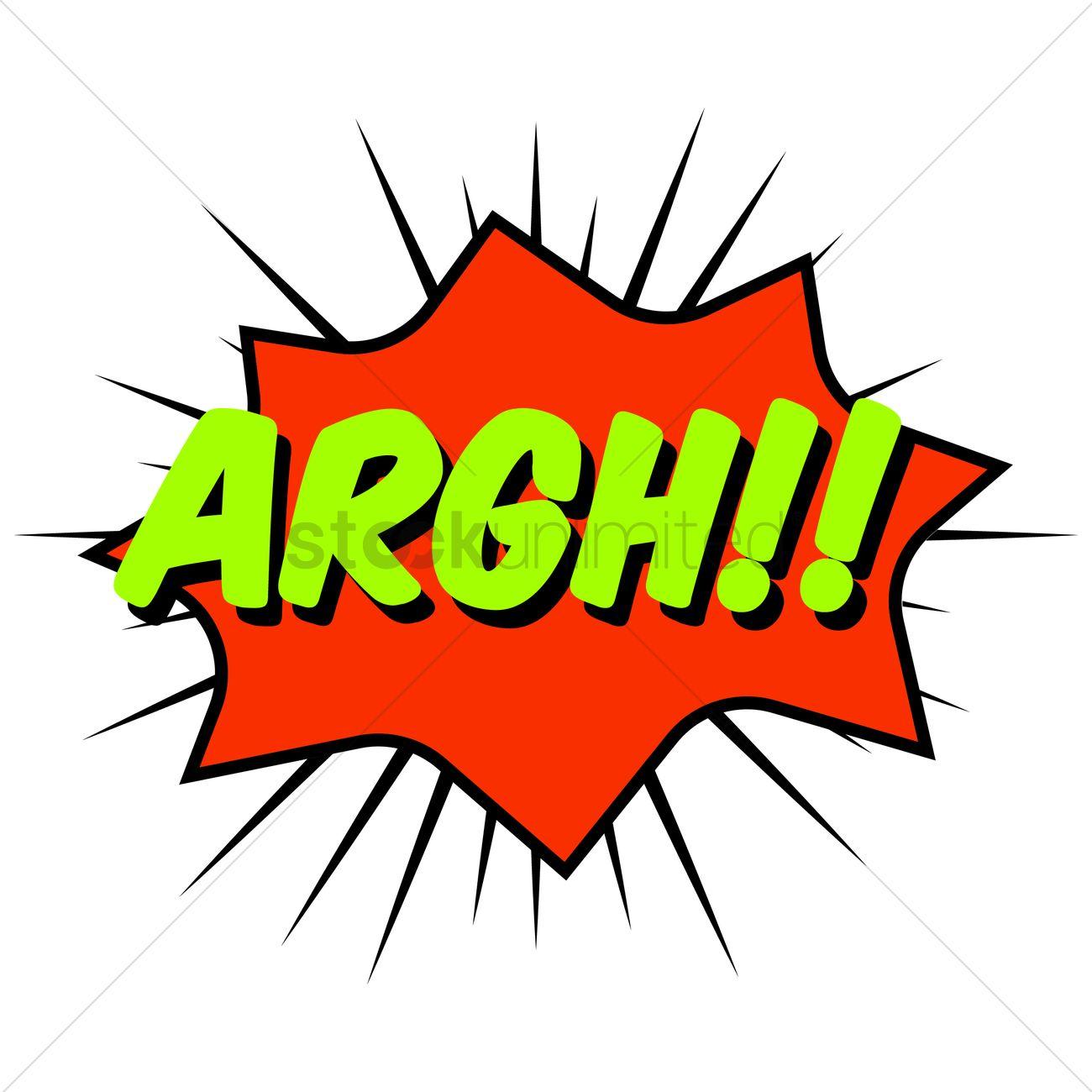 Argh Comic Speech Bubble Vector Image 1711006 Stockunlimited