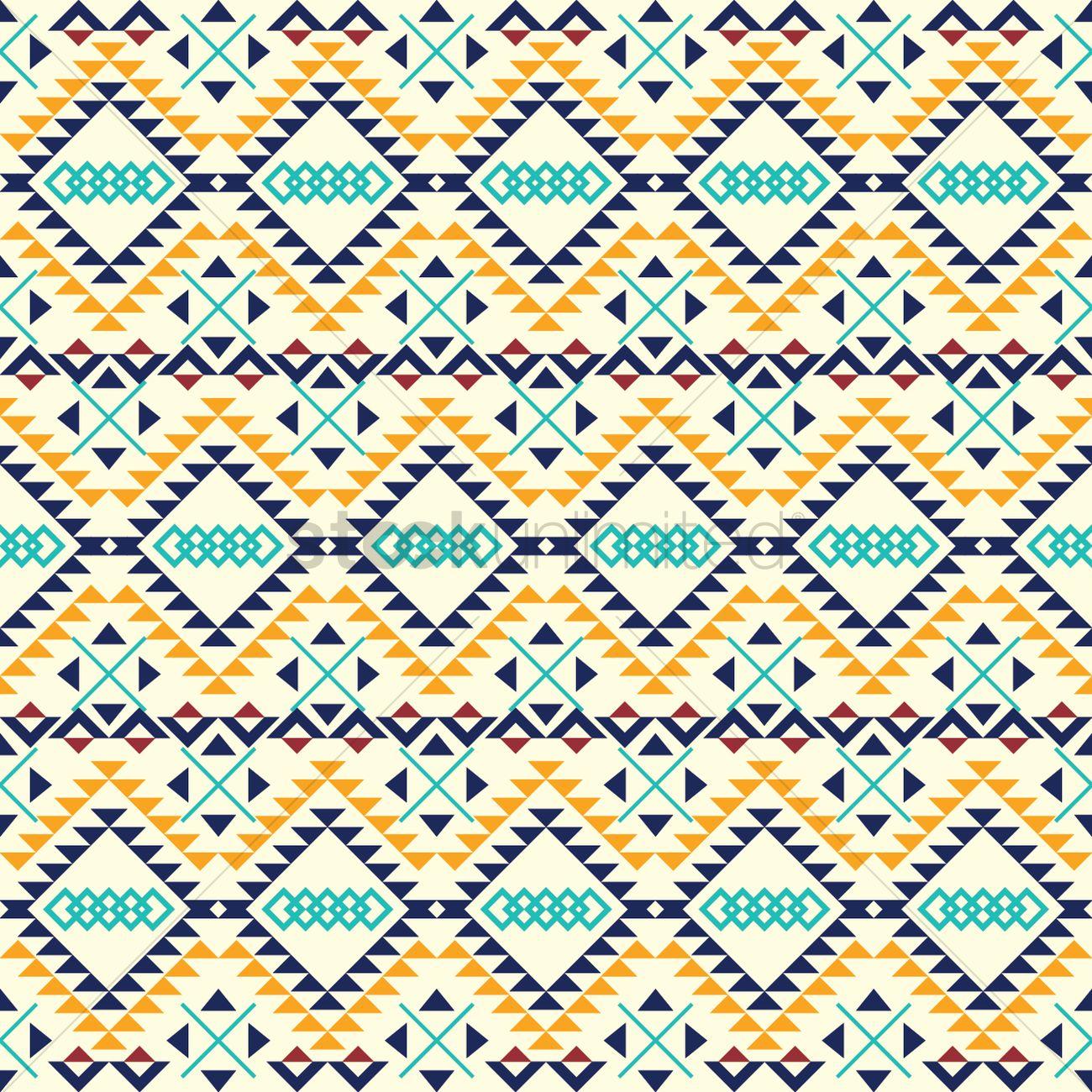 aztec background design vector image 2011953