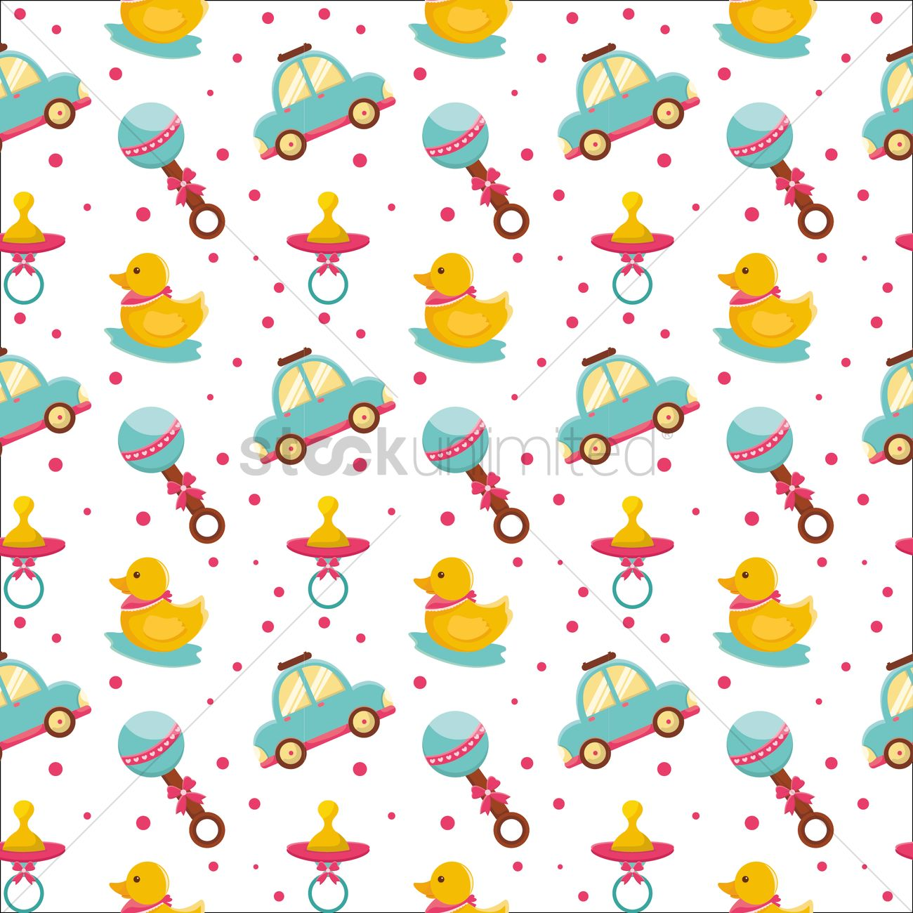 Free Baby Toys Background Vector Image