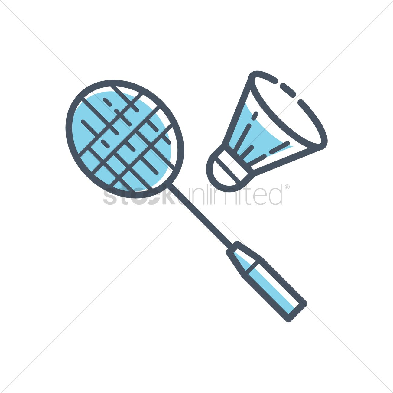 Badminton racquets and shuttlecock
