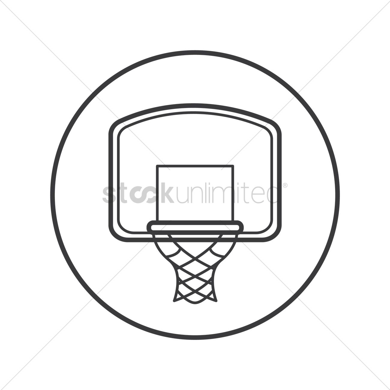 Free Basketball hoop Vector Image - 1490367 | StockUnlimited