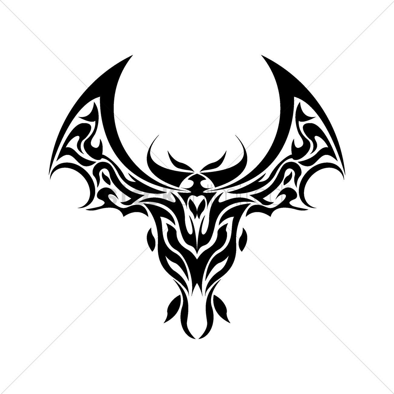 Bat Tattoo Design Vector Image - 1435573
