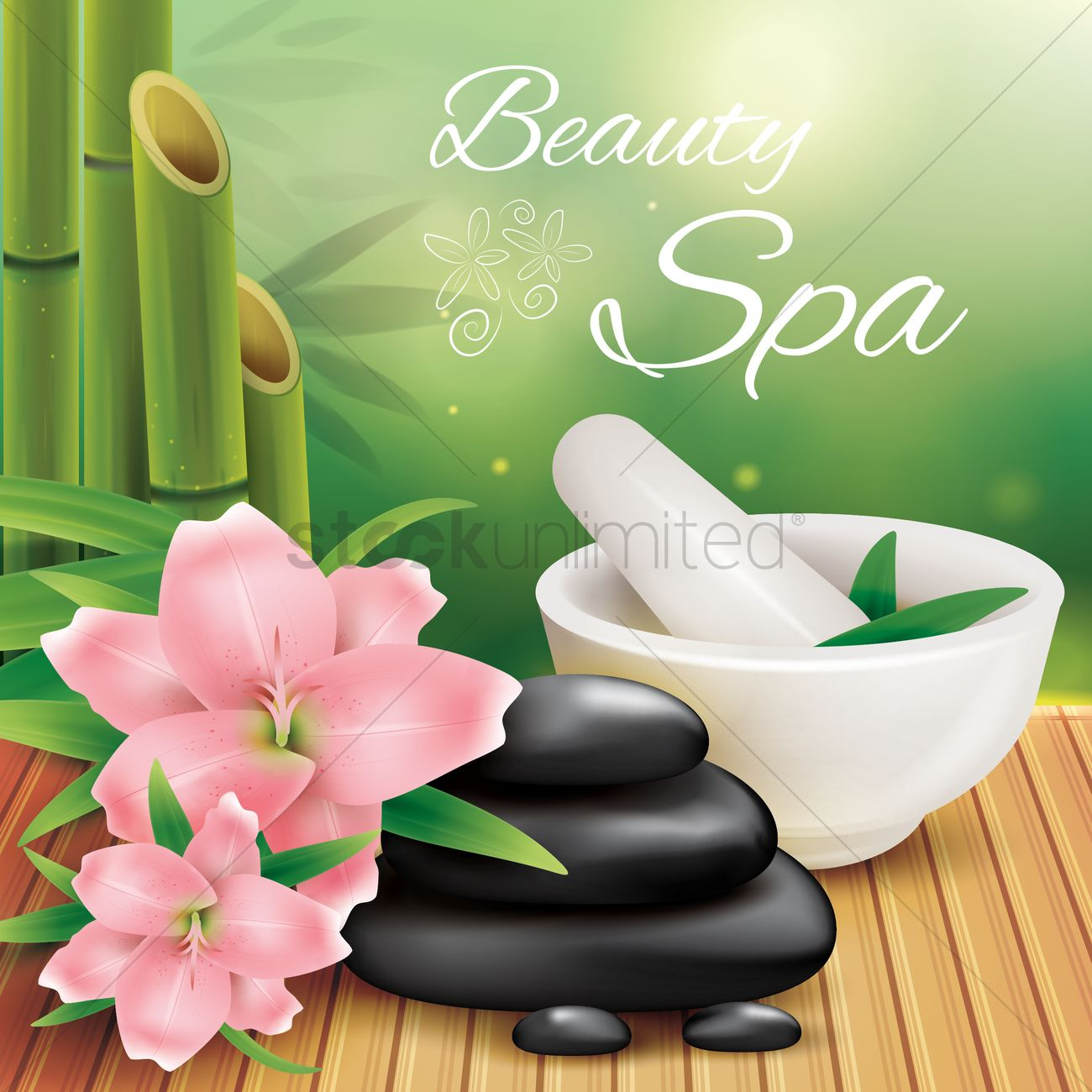 Beauty spa background vector image 1811955 stockunlimited - Articulos para spa ...