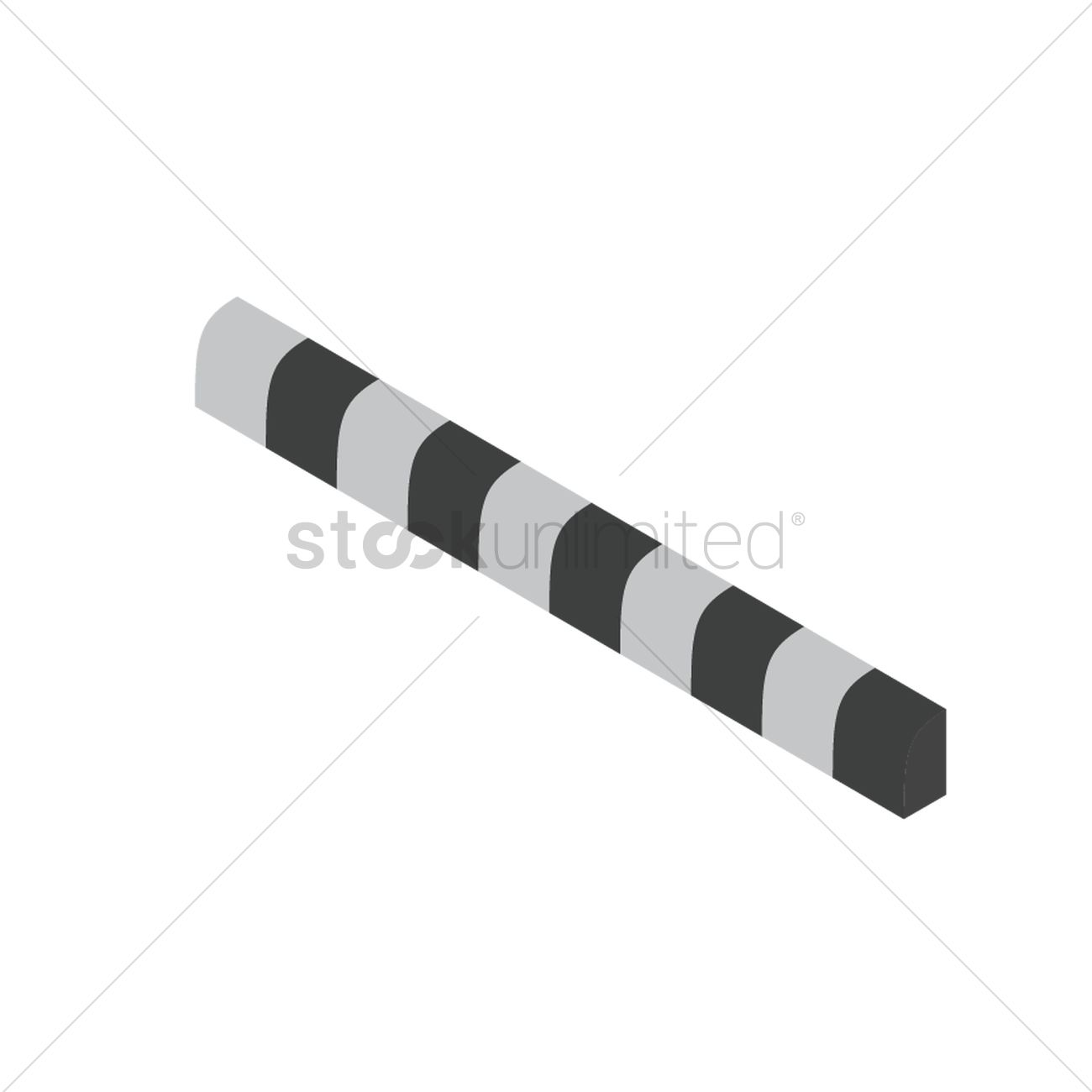Black and white road divider Vector Image - 2018977 ...