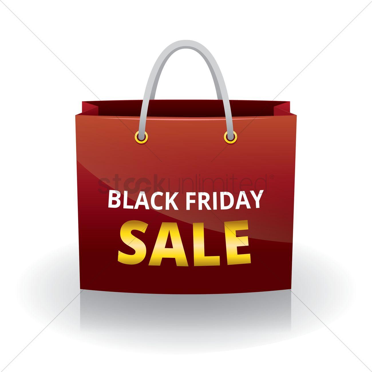 Black friday shopping bag Vector Image - 1603881 | StockUnlimited