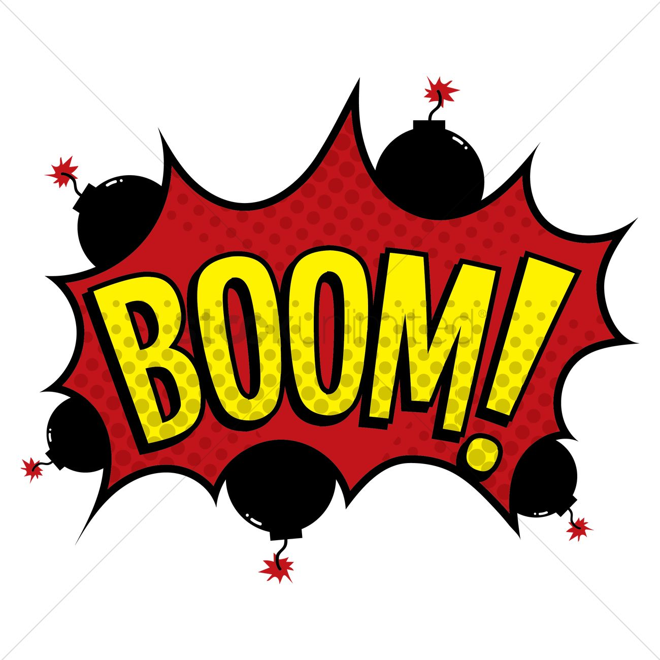boom text with comic effect vector image 1822982 text chat bubble vector iphone text bubble vector