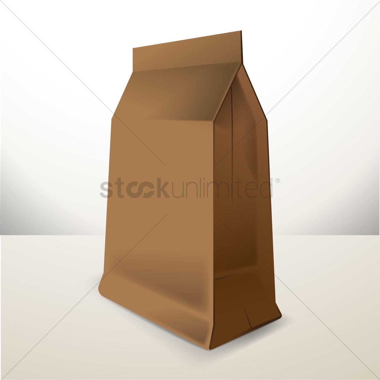 Paper bag vector - Brown Paper Bag Vector Graphic