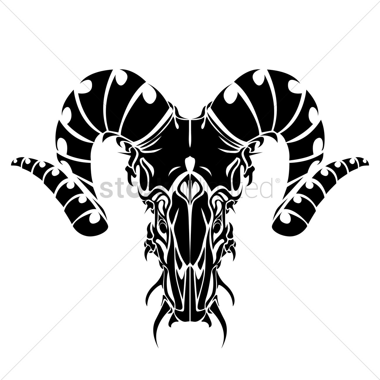 bull horns tattoo vector image 1463212 stockunlimited. Black Bedroom Furniture Sets. Home Design Ideas