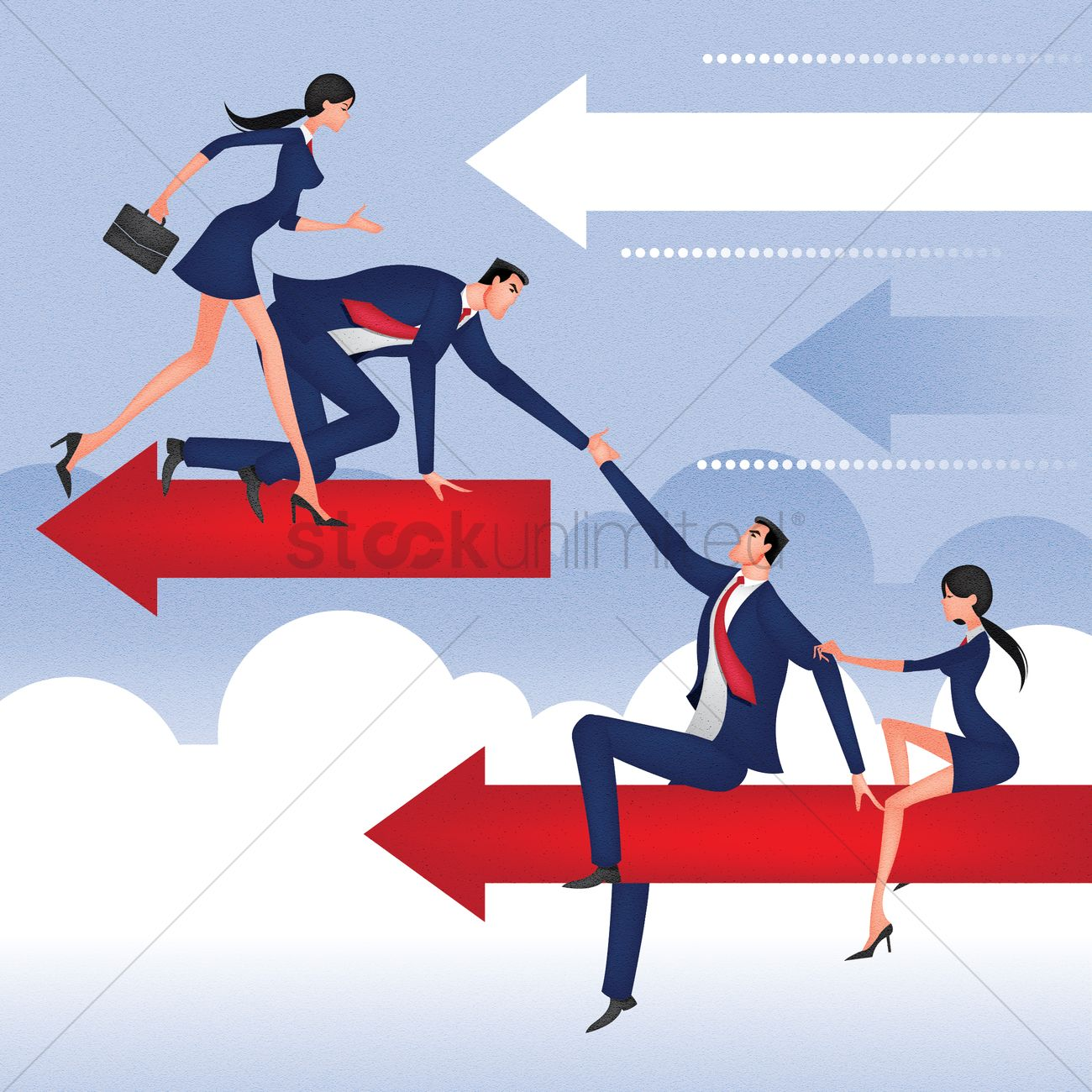 Business People Helping Each Other Vector Image