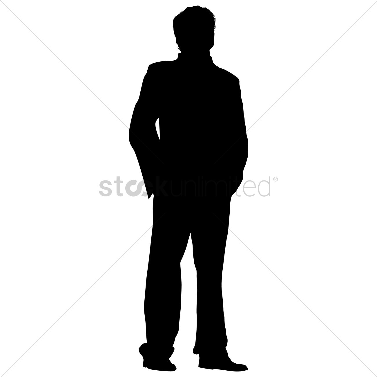 Businessman standing silhouette Vector Image - 1463595 ...