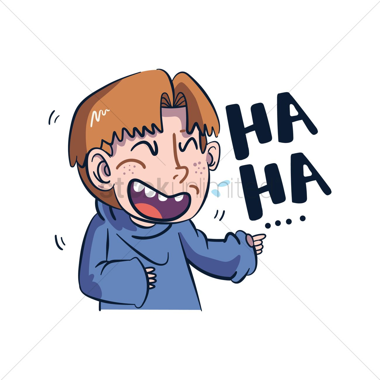 Cartoon Characters Laughing : Cartoon character laughing vector image