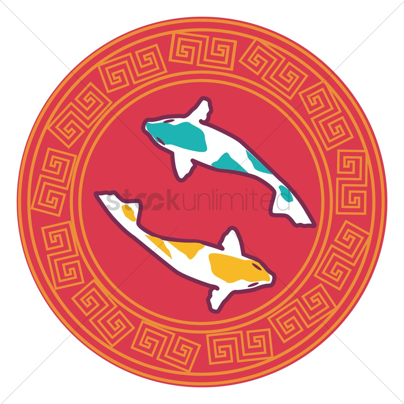 Chinese fish symbol vector image 1379728 stockunlimited for Www plenty of fish sign in