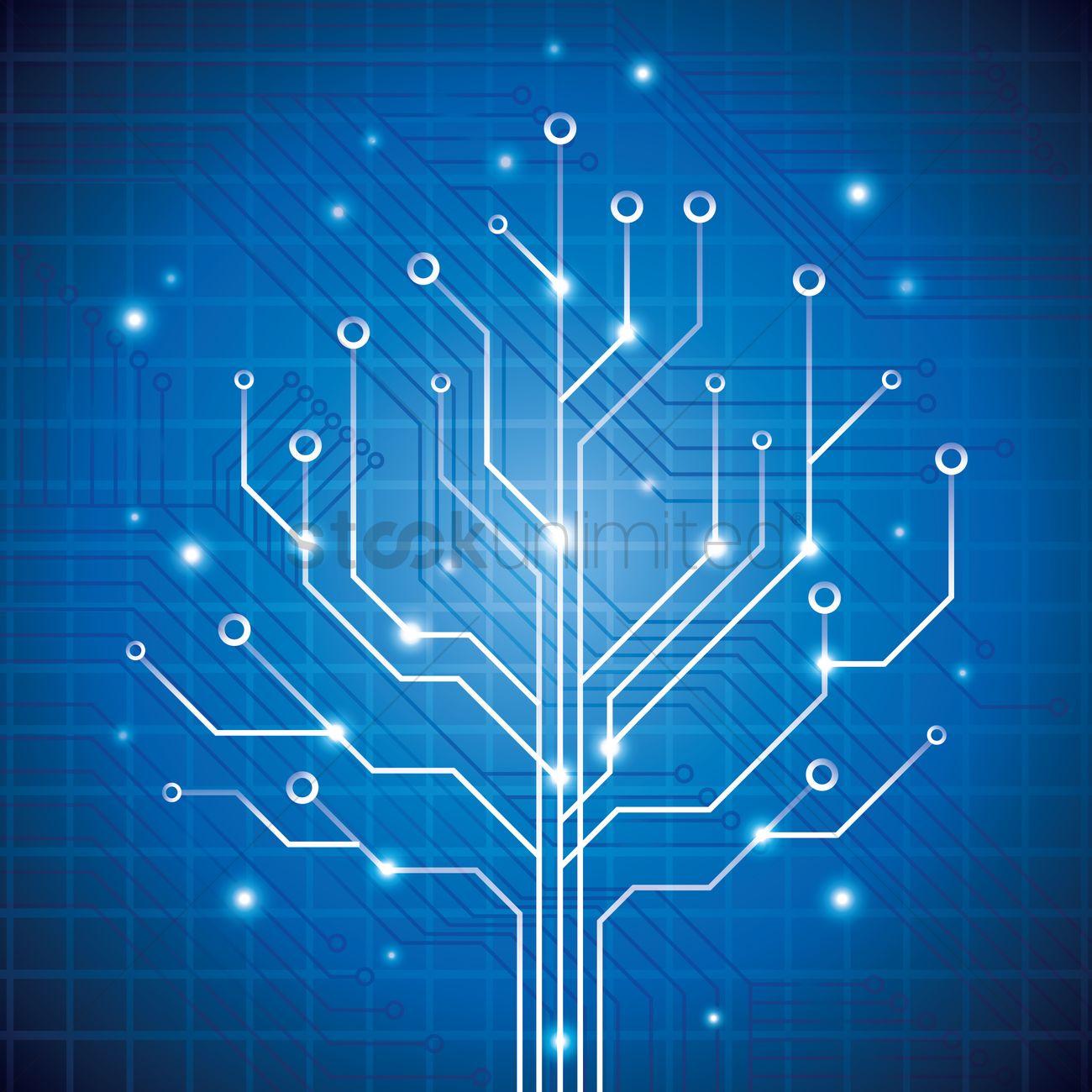 Electronic Circuit Stock Vector Illustration 7694152 Shutterstock