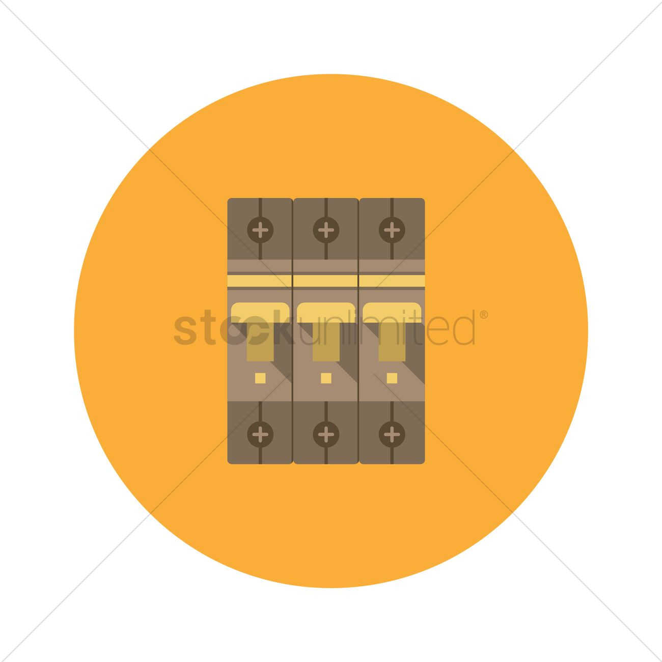 free circuit breaker and fuse box vector image 1247493 stockunlimited