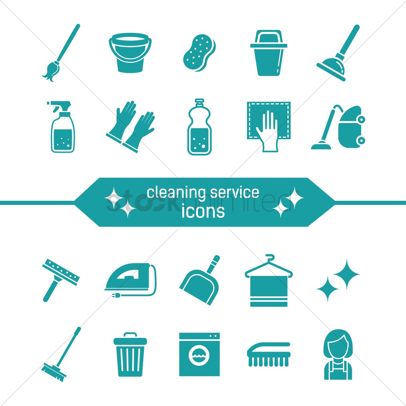 cleaning service icons vector image   2011821 stockunlimited