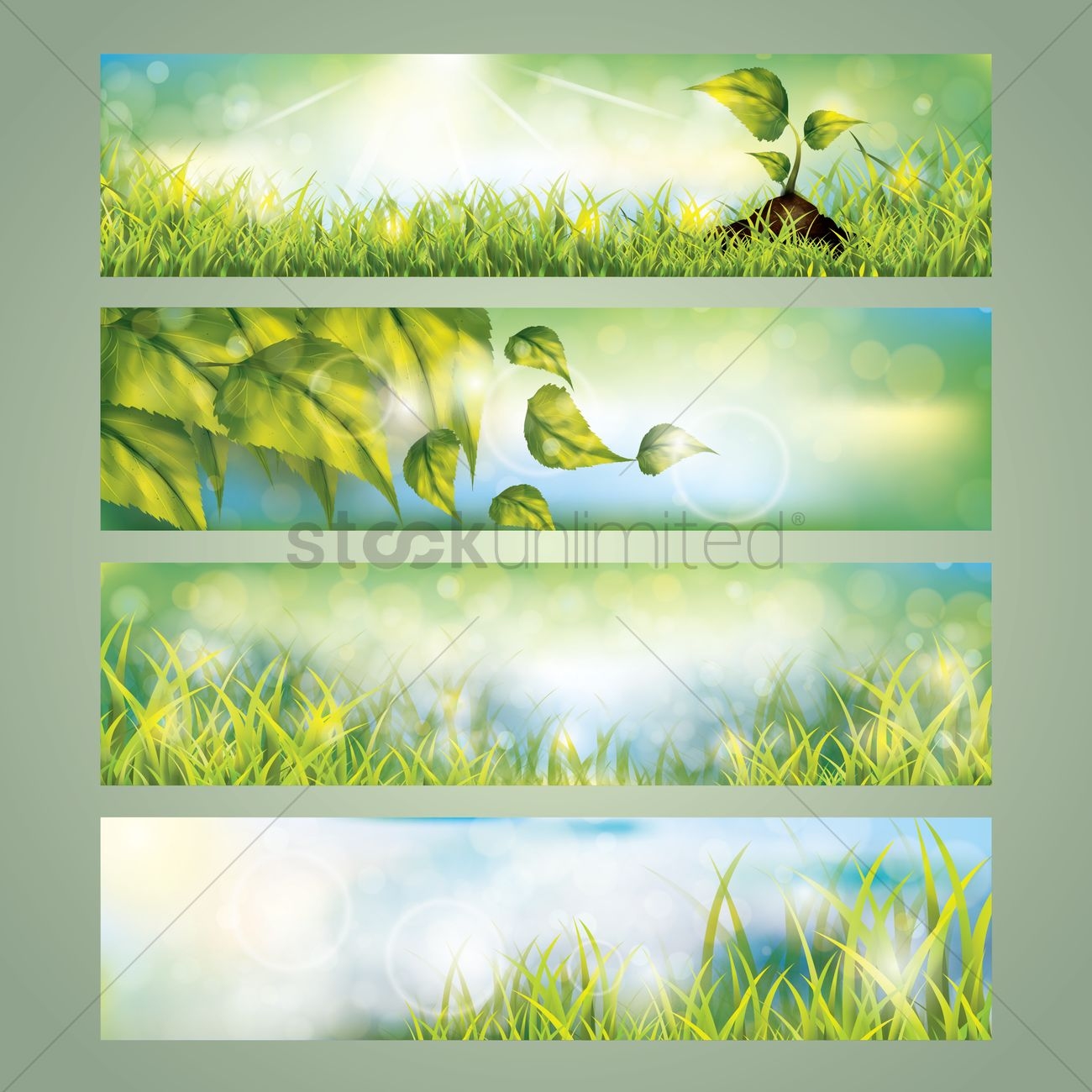 collection of nature banner designs vector image 1612326
