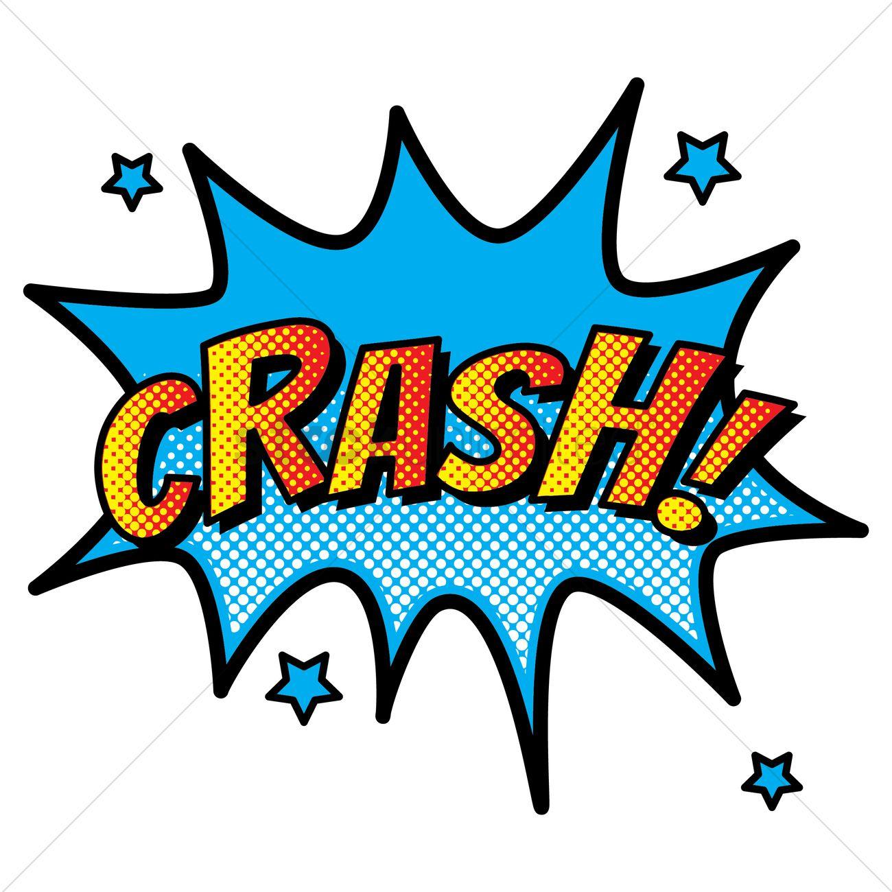 Comic Effect Crash Vector Image