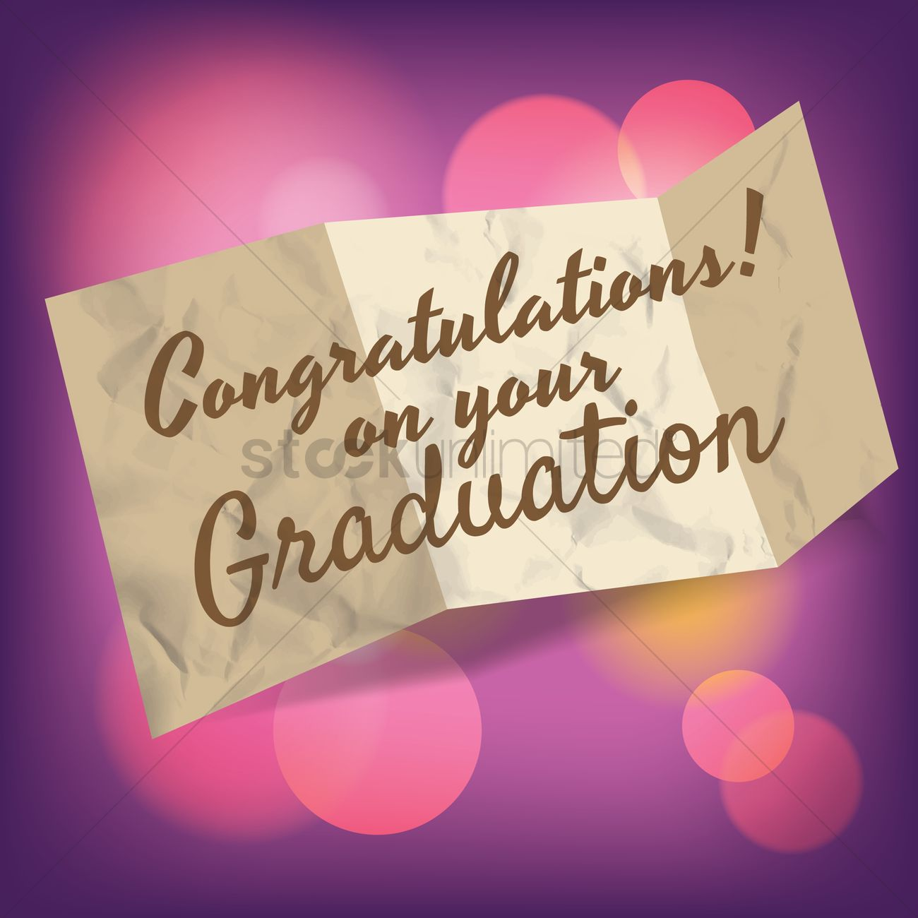 Congratulations On Your Graduation Greeting Vector Image