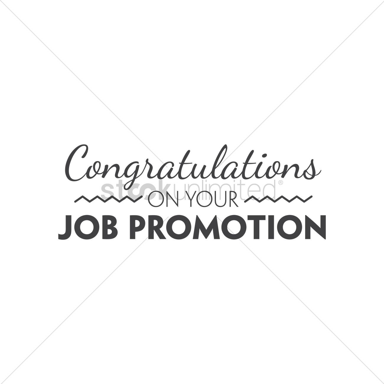 congratulations on your job promotion vector image  congratulations on your job promotion vector graphic