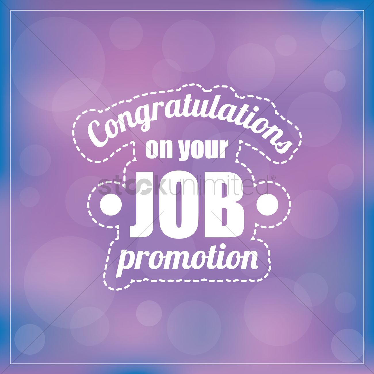 Congratulations on your job promotion Vector Image - 1828635 ...