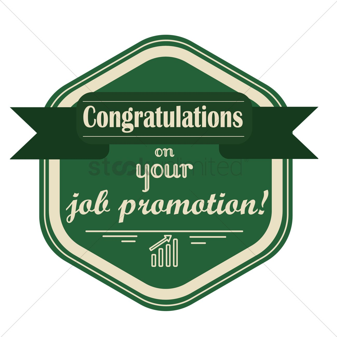 congratulations on your promotion label vector image  congratulations on your promotion label vector graphic