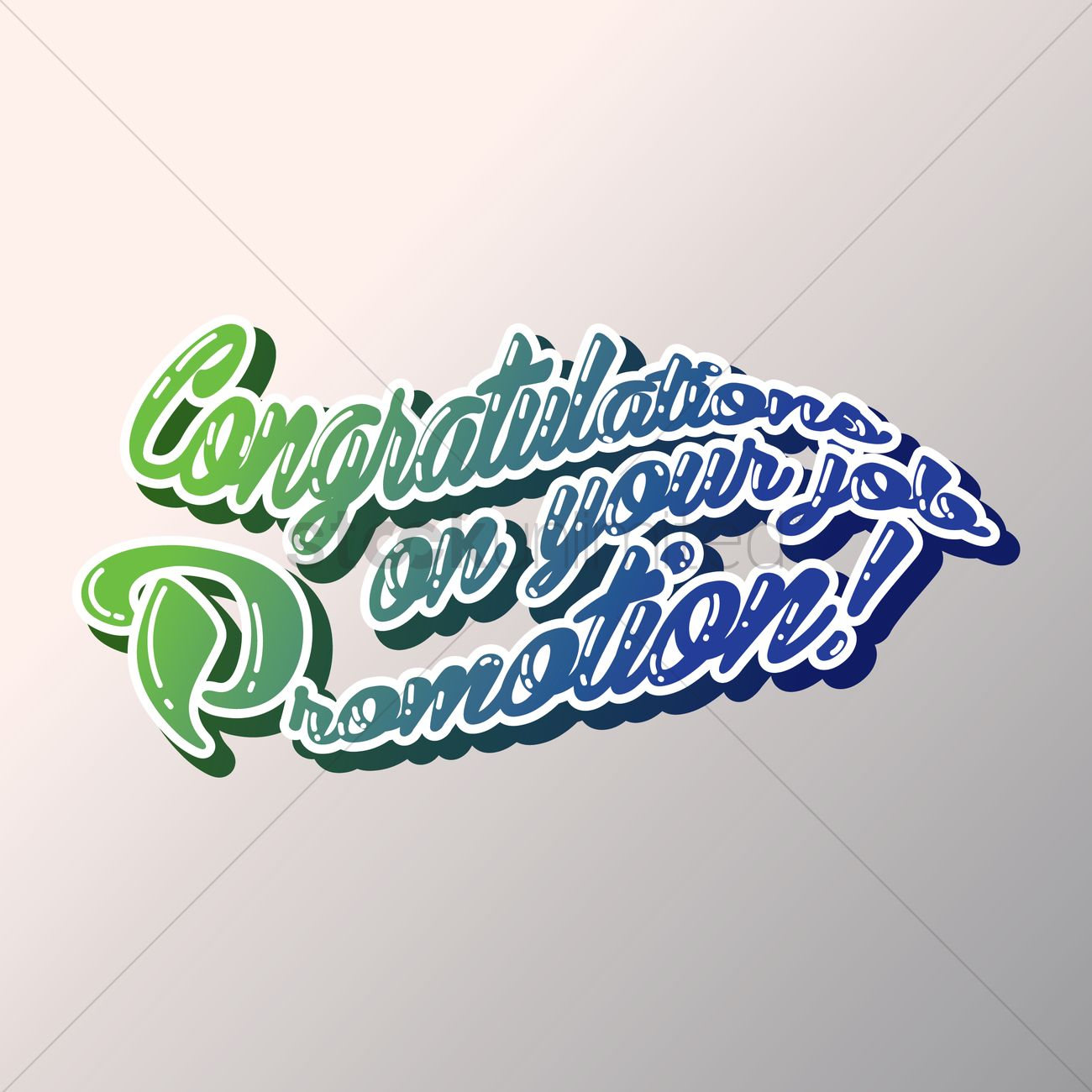 congratulations on your promotion vector image  congratulations on your promotion vector graphic