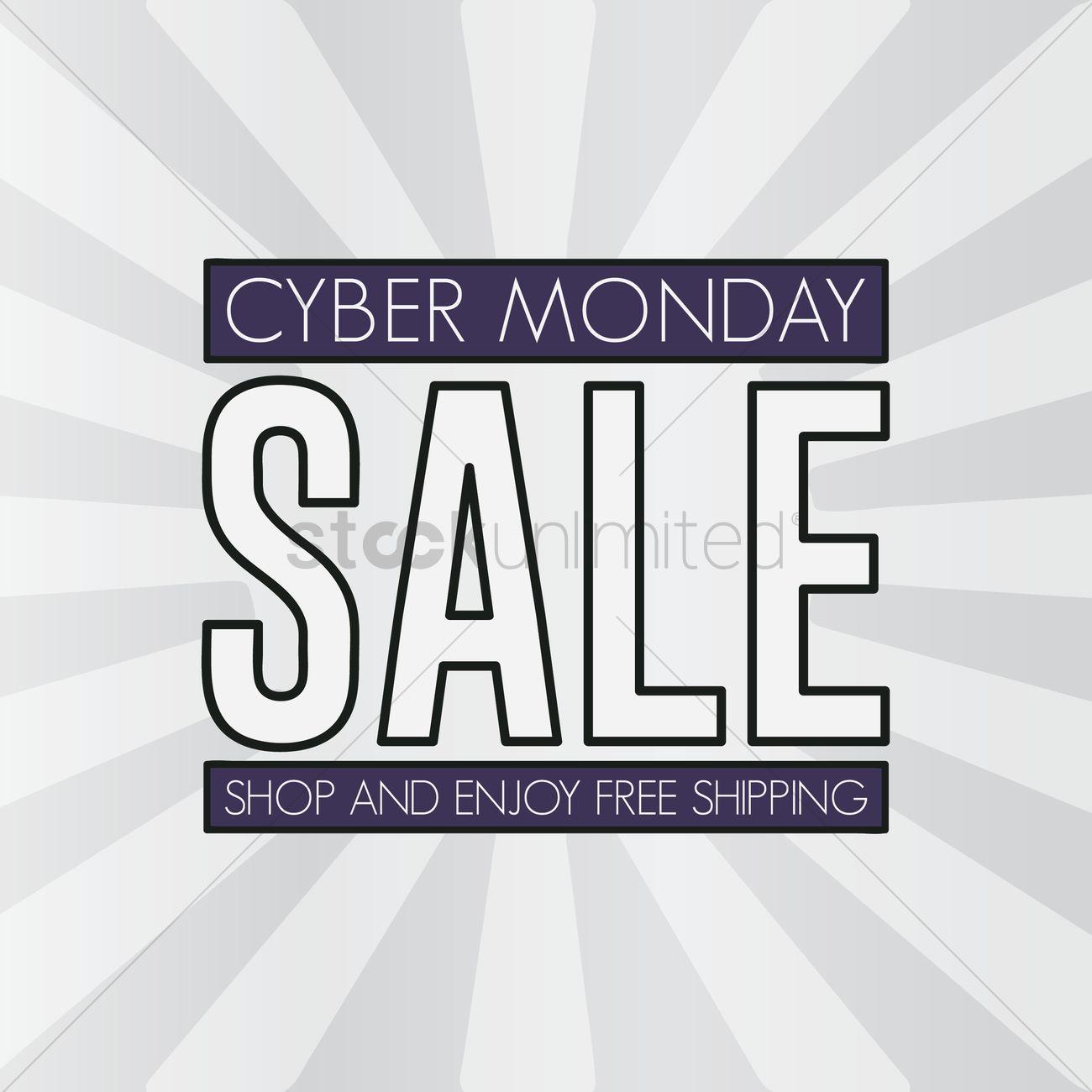 Cyber monday sale wallpaper vector image 1613189 - Monday wallpaper ...