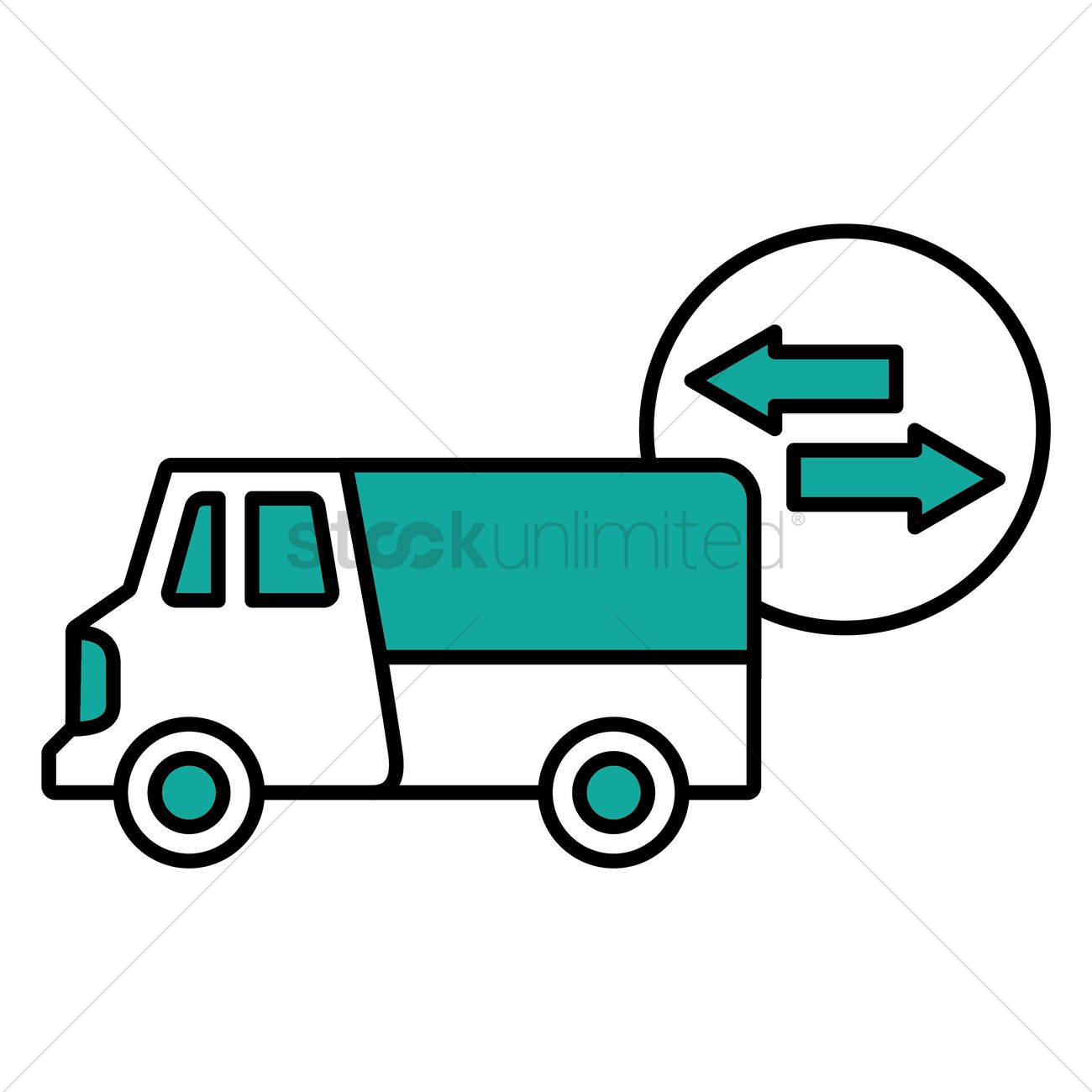 Delivery van Vector Image - 1526677 | StockUnlimited