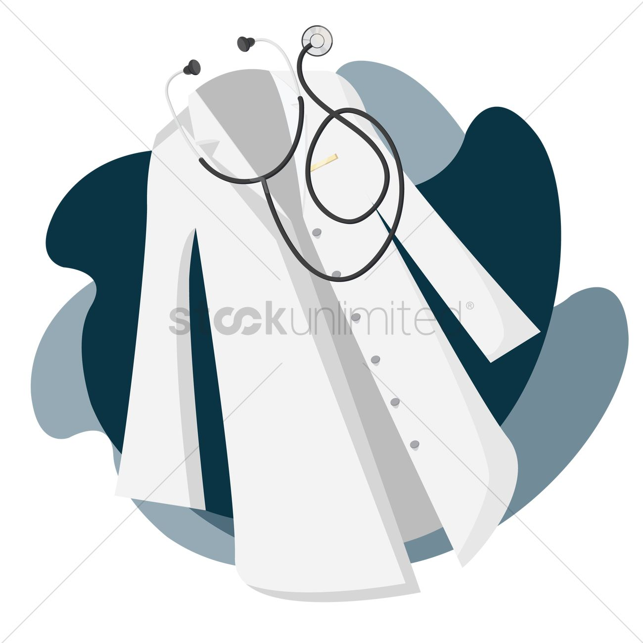 White apron doctors - Doctor Apron With Stethoscope Vector Graphic