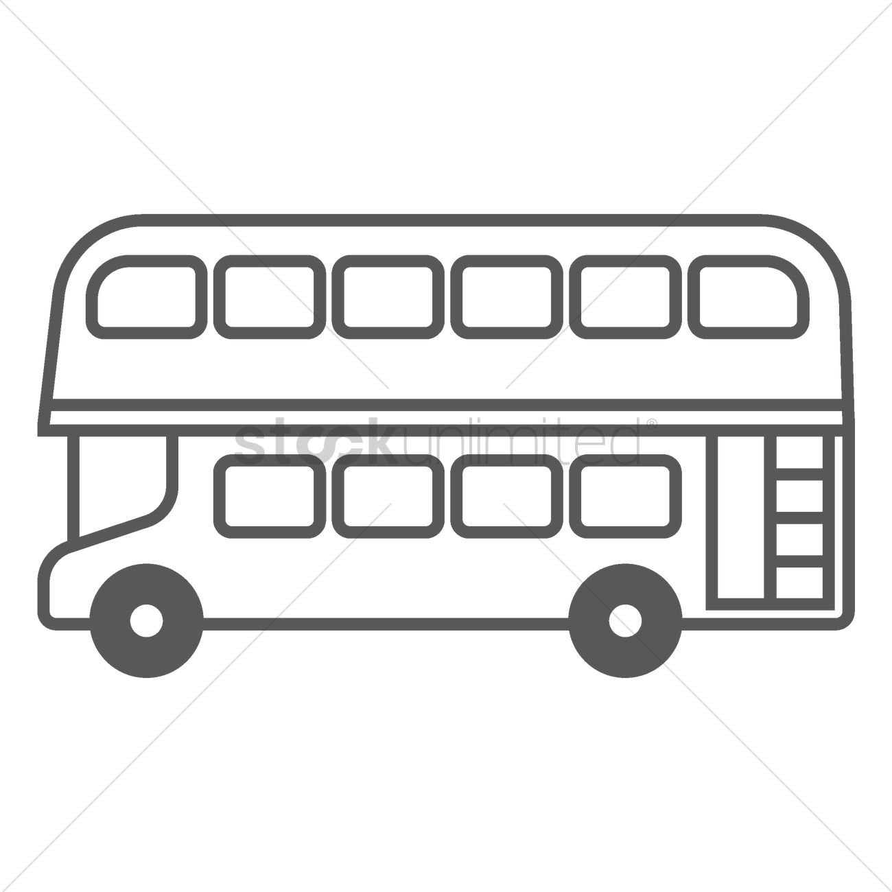 Double-decker bus Vector Image - 1574589 | StockUnlimited