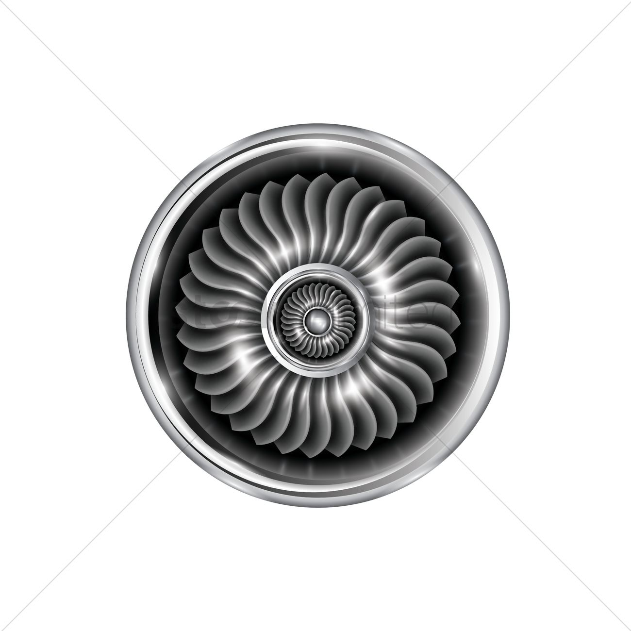 Ducted Fan Related Keywords Suggestions Long Tail Description Aircraft Parts Hrjpg Vector Image 1807171 Stockunlimited
