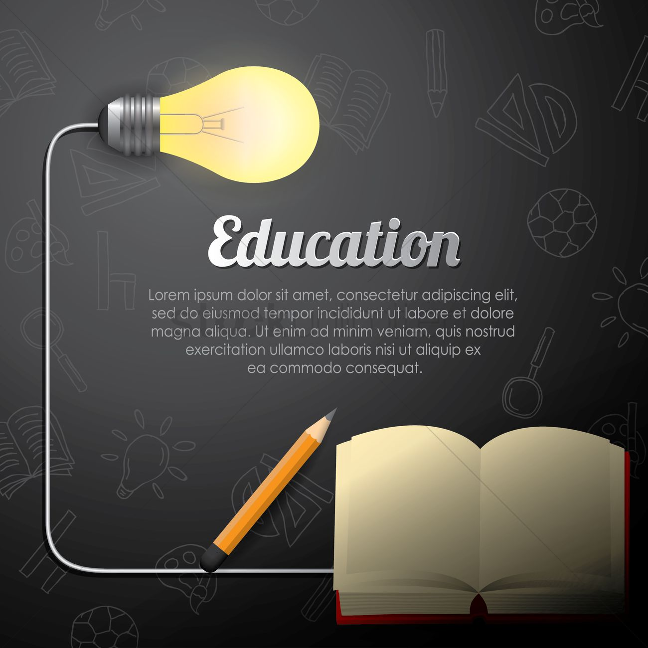 education wallpaper vector image 1821879 stockunlimited