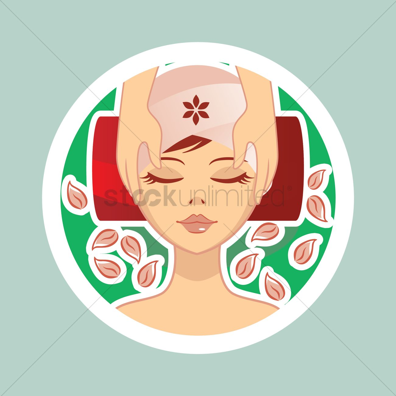 Face massage at a spa Vector Image - 1335912   StockUnlimited