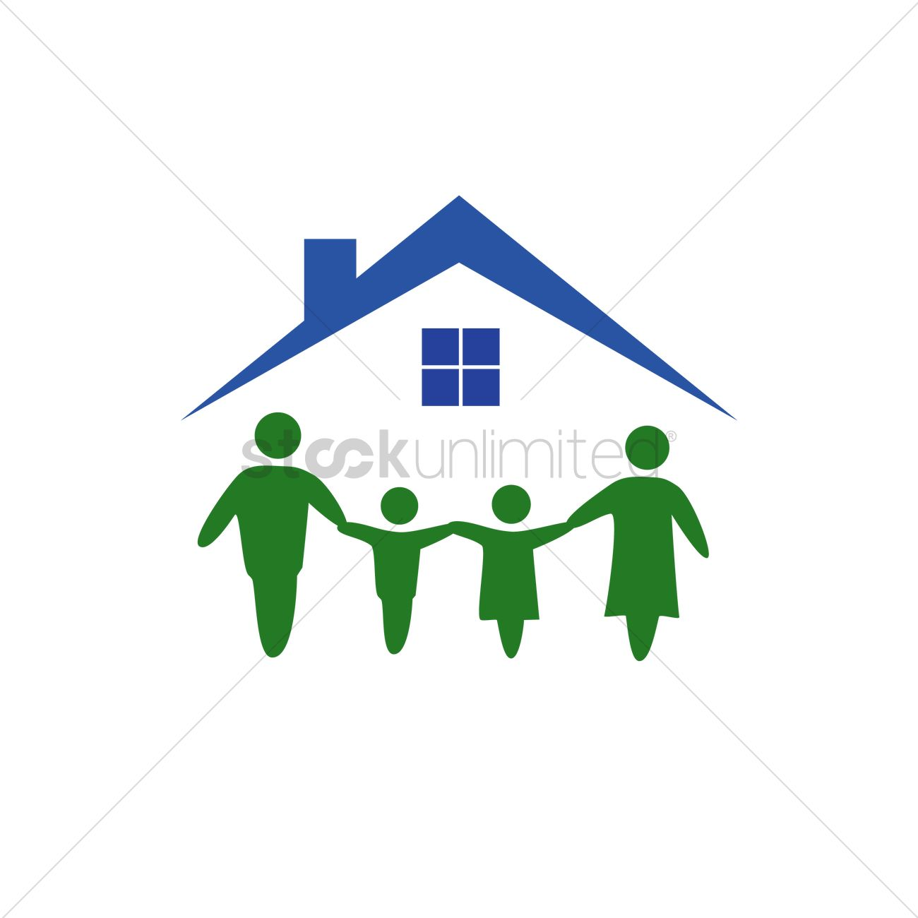 family house logo vector image 1270196 stockunlimited