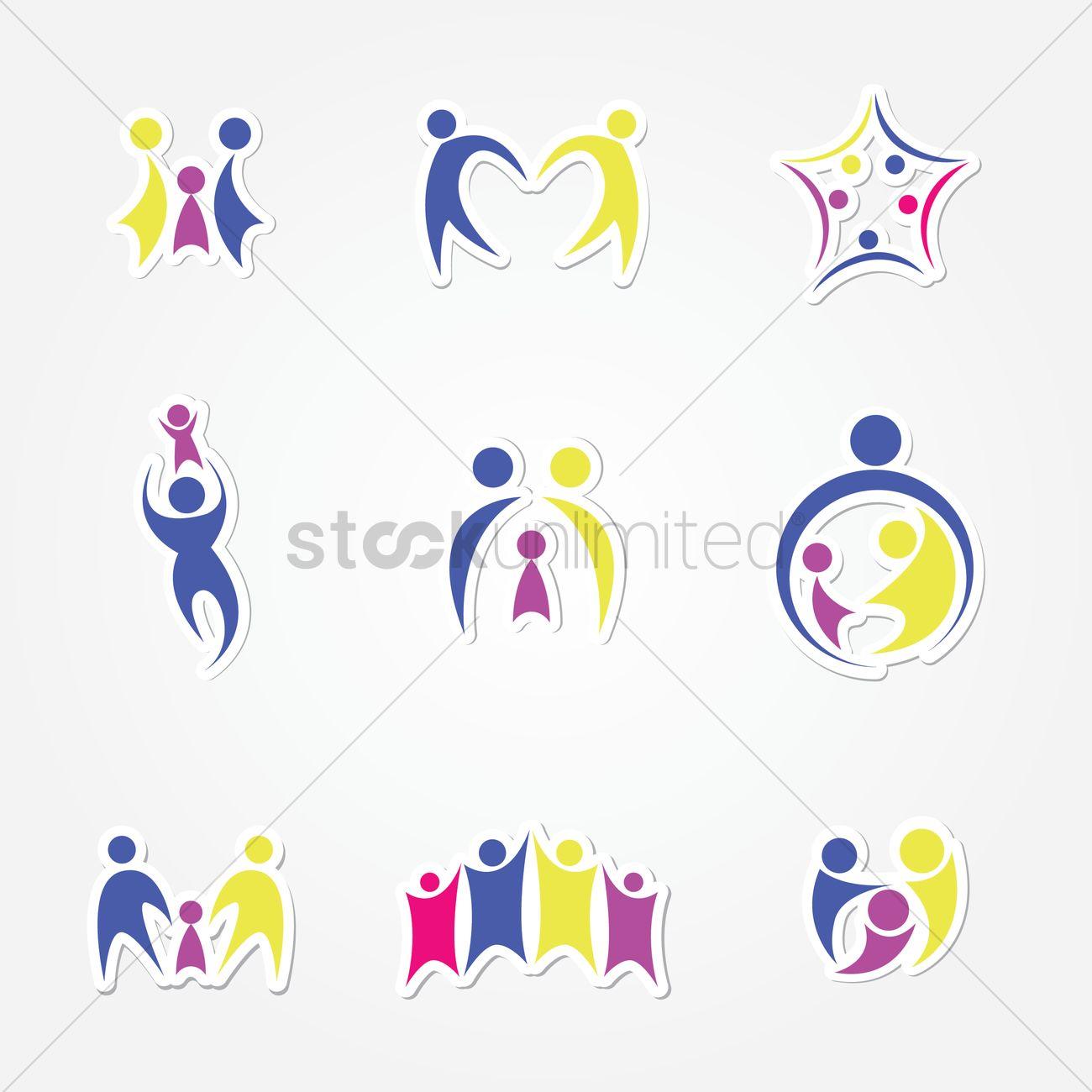 family logo vector image 1243730 stockunlimited