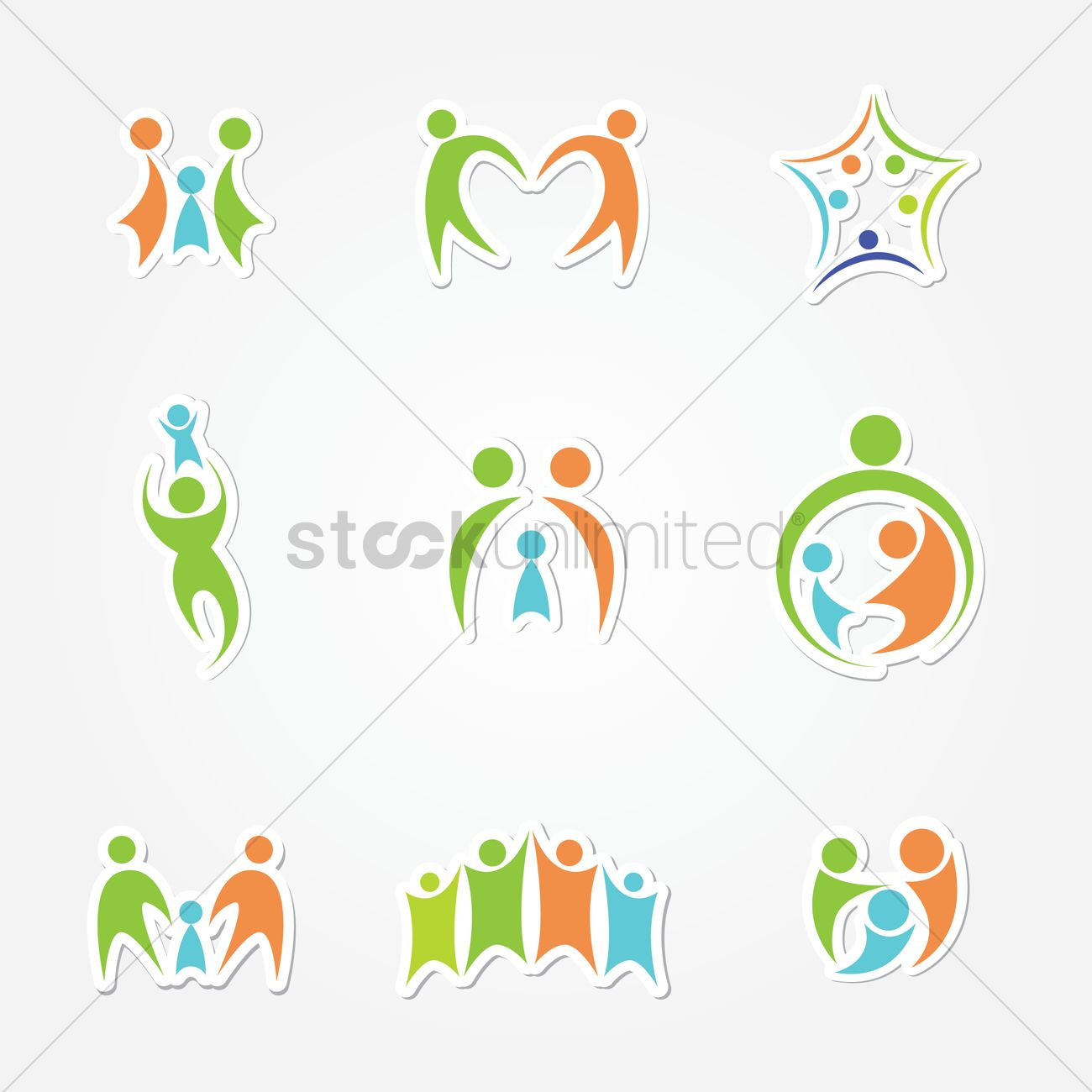 Family logo Vector Image - 1243731 | StockUnlimited