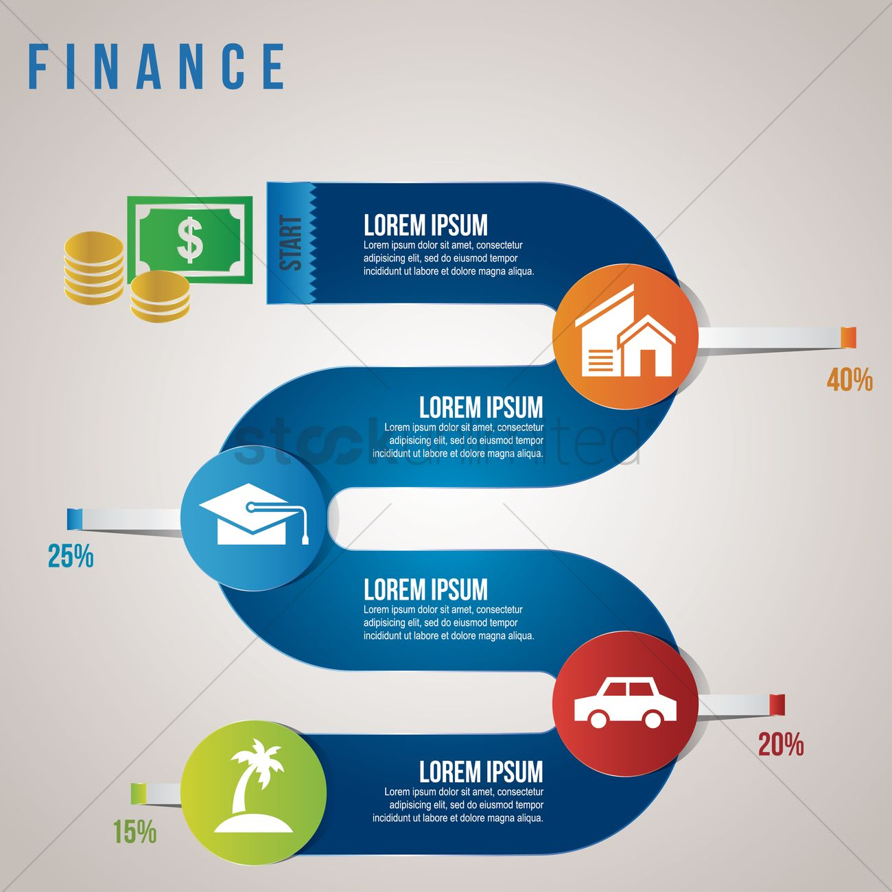 Finance Graphics: Finance Infographic Vector Image - 1513293